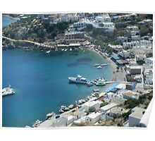 Patmos Greek Island Harbour #photography Poster