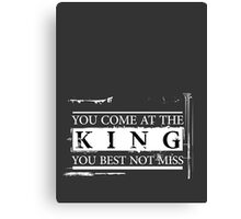 """You Come at the King, You Best Not Miss"" - The Wire (Light) Canvas Print"
