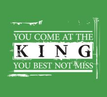 """You Come at the King, You Best Not Miss"" - The Wire (Light) One Piece - Short Sleeve"