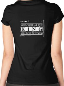 """You Come at the King, You Best Not Miss"" - The Wire (Light) Women's Fitted Scoop T-Shirt"