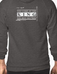"""You Come at the King, You Best Not Miss"" - The Wire (Light) Zipped Hoodie"
