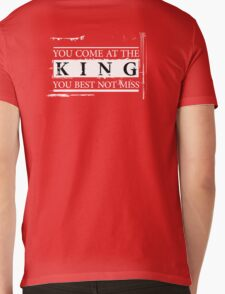 """""""You Come at the King, You Best Not Miss"""" - The Wire (Light) Mens V-Neck T-Shirt"""
