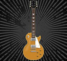 Gold Top Electric Guitar by bradyarnold