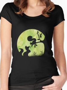 Woodland Shadows - Fox and Squirrel:Spring Women's Fitted Scoop T-Shirt