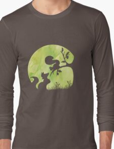Woodland Shadows - Fox and Squirrel:Spring Long Sleeve T-Shirt