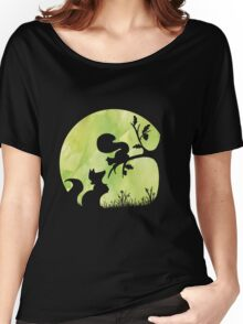 Woodland Shadows - Fox and Squirrel:Spring Women's Relaxed Fit T-Shirt