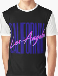 Retro 80s Los Angeles, California Graphic T-Shirt