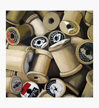 Sewing Time - realistic sewing thread spools Photographic Print