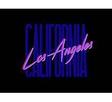 Retro 80s Los Angeles, California Photographic Print