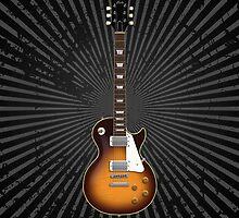 Sunburst Electric Guitar by bradyarnold