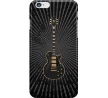 Black Electric Guitar iPhone Case/Skin