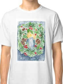 Pine and Holly Wreath Classic T-Shirt