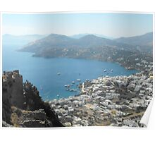 Patmos Greek Island harbor view #photography Poster