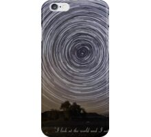 Time-exposure of polar star trails. iPhone Case/Skin
