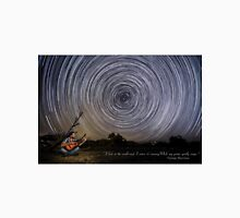 Time-exposure of polar star trails. Unisex T-Shirt