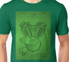 Engine patent - Green Unisex T-Shirt