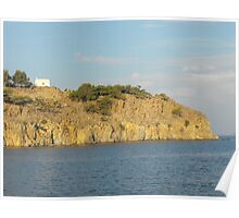 Greek Island church #photography Poster