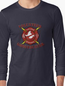 Volunteer Ghostbuster (Clean) Long Sleeve T-Shirt