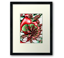 Christmas Memories card Framed Print