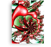 Christmas Memories card Canvas Print