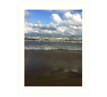 lake michigan waves Art Print