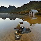 Boatshed Dawn - Cradle Mountain by Ian Berry