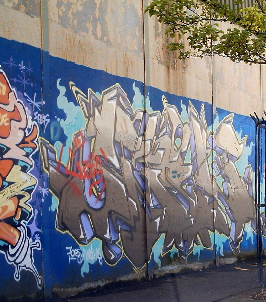 peace wall mural by Kevin McLaughlin