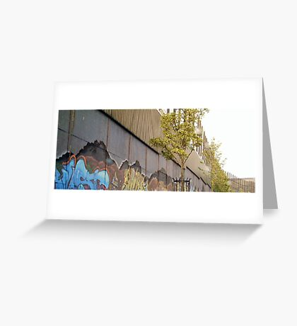 peace wall and sky Greeting Card