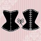 Elegant corset silhouette by Marta Jonina