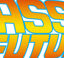 Bass to the Future (colored) Sticker