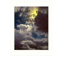 God Said... Art Print