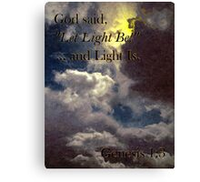 God Said... Canvas Print