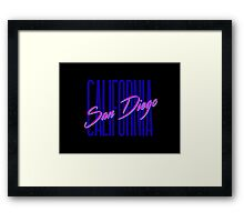 Retro 80s San Diego, California Framed Print