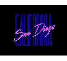 Retro 80s San Diego, California Photographic Print