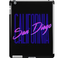 Retro 80s San Diego, California iPad Case/Skin
