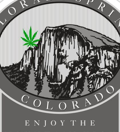 Cannabis Colorado Springs Sticker