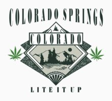 "Marijuana Colorado Springs ""Lite It Up"" by MarijuanaTshirt"