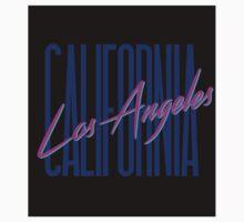 Retro 80s Los Angeles, California Kids Tee