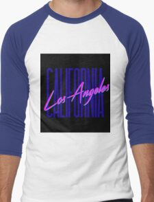 Retro 80s Los Angeles, California Men's Baseball ¾ T-Shirt