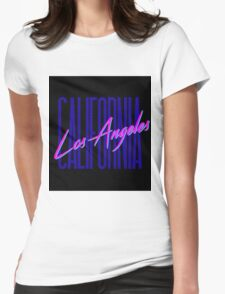 Retro 80s Los Angeles, California Womens Fitted T-Shirt