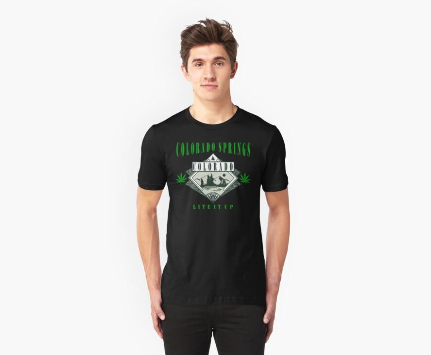 """Cannabis Colorado Springs """"Lite It Up"""" by MarijuanaTshirt"""
