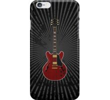 Red Hollow Body Guitar iPhone Case/Skin