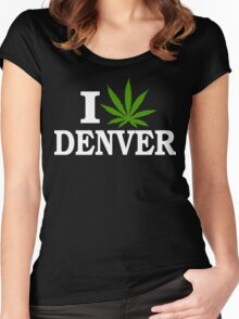 I Love Cannabis Denver Colorado Women's Fitted Scoop T-Shirt