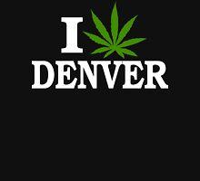 I Love Cannabis Denver Colorado Womens Fitted T-Shirt