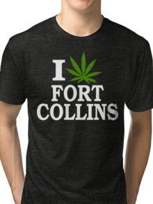 I Love Cannabis Fort Collins Colorado Tri-blend T-Shirt