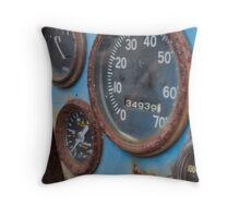 Jeep Guages Throw Pillow