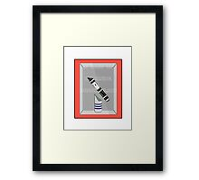 INCASE OF DARKSIDE BREAK GLASS  Framed Print