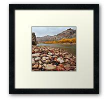 Green River Rocks Framed Print