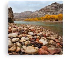 Green River Rocks Canvas Print