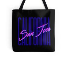 Retro 80s San Jose, California Tote Bag